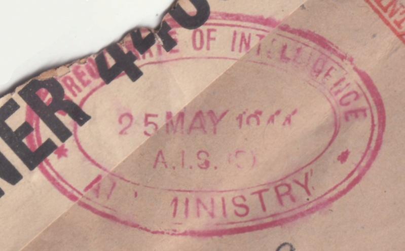 Lettre de l'Etat Major de l'armée de l'air - Londres de mai 1944 pour Alger. _brit_18