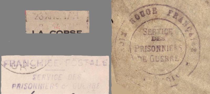Lettre d'Ajaccio du 23.11.1944 contrôlée à Lyon -Censure N°16 avec au verso des cachets de lecteur AY et 99 _n16_r11