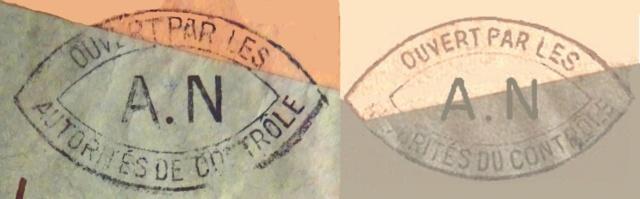 """Cachet """"DU"""" et """"DE"""" contrôle utilisé à Alençon ! A_n_al10"""