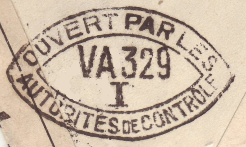 """Censure """"CONTROLE X 237"""" ?? sur lettre d'Italie pour Tunis en mai 1941. Del_1610"""