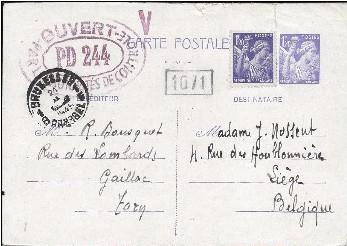 PM: lettre code pour Albi (contrôle postal sous Vichy) ?? Pd_24411