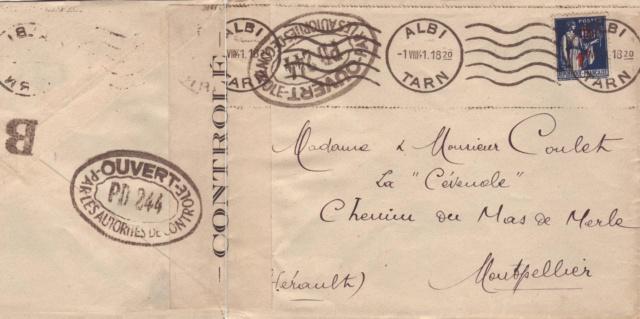 PM: lettre code pour Albi (contrôle postal sous Vichy) ?? Pm_10010