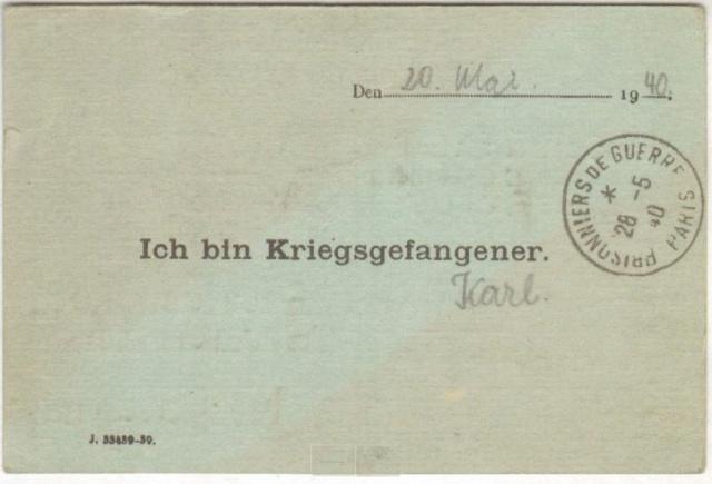 Prisonniers de guerre allemand 1939/40 en France. Up_cir10