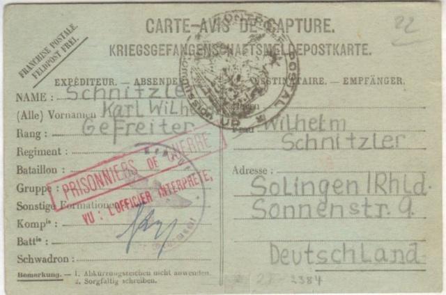 Prisonniers de guerre allemand 1939/40 en France. Up_cir11