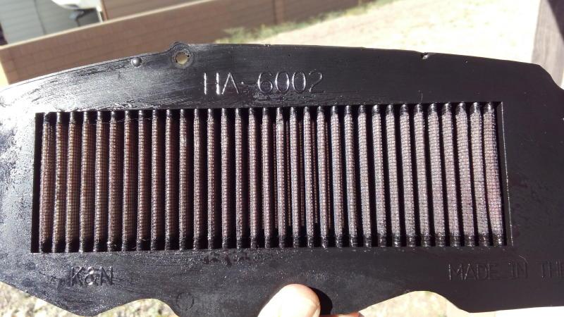 Cleaned my K&N air filter Kn10