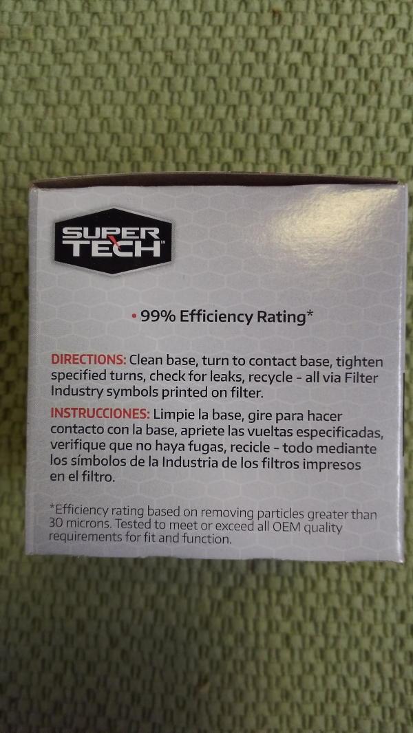 SuperTech oil filters reborn! St210