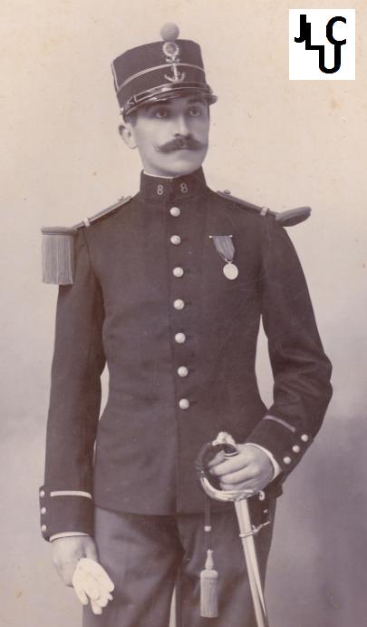 Tenues de l'Infanterie Coloniale par la photo, IIIème République 1893-1914 (Off) 01910