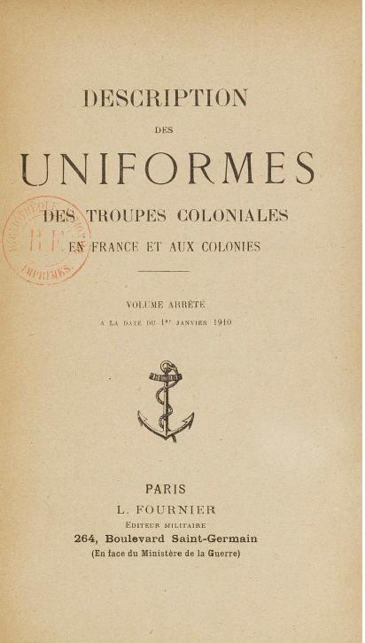 Tenues de l'Infanterie Coloniale par la photo, IIIème République 1893-1914 (Off) 02710