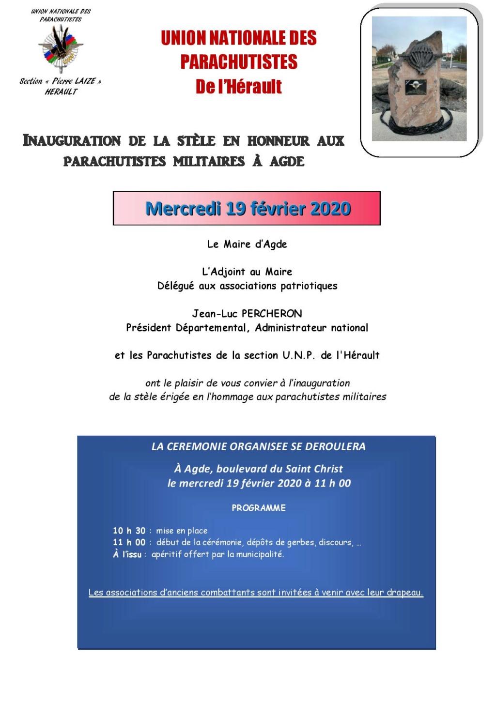 Inauguration d'une stèle à Agde (34) Unp_hz10