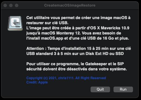 Create macOS Image Restore 141