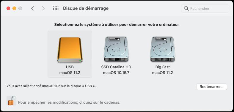 Effectuer un BackUp de macOS Big Sur 11 Capt1050