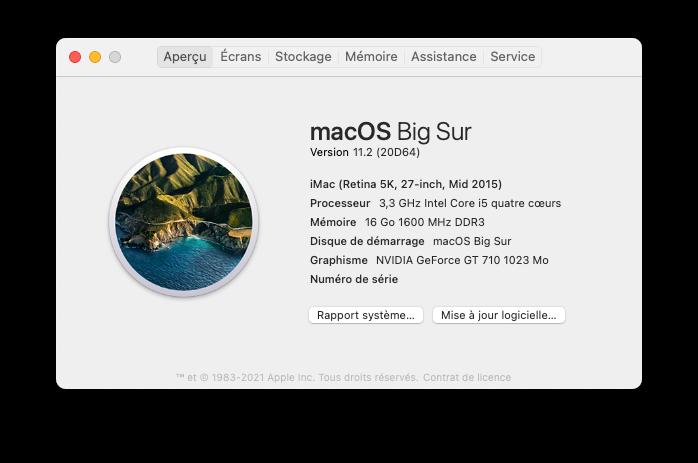 Mise a jour macOS Big Sur 11.2 (20D64) Capt1080