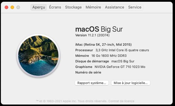 Mise a jour macOS Big Sur 11.2.1 (20D74) Capt1096