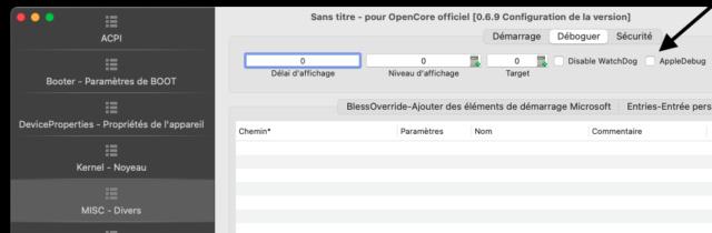 Comment éviter la pelleté de fichiers txt dans la partition EFI Capt1143