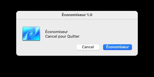 Status bar Icon Économiseur Capt1160