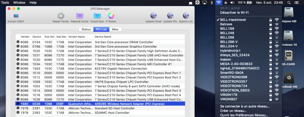 Problème création clé HP ProBook EliteBook macOS Captu233