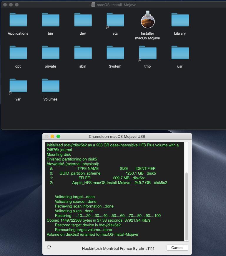Chameleon macOS Mojave USB Captu241
