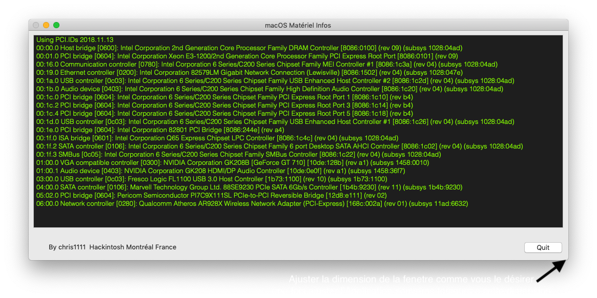 macOS Matériel Infos Captu346