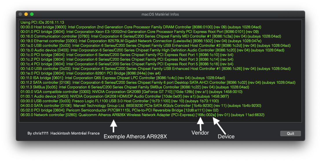 macOS Matériel Infos Captu349