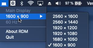 RDM Resolution d'affichage sur Portable Captu350