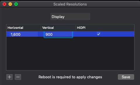RDM Resolution d'affichage sur Portable Captu351