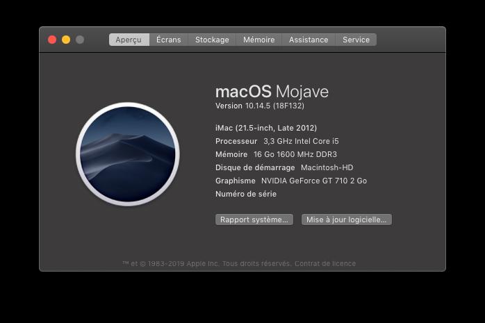 macOS Mojave 10.14.5 Finale version  (18F132 ) Captu647