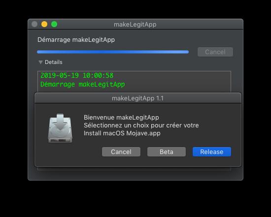 makeLegitApp  ( Créer votre Install macOS Mojave.app ) Captu653