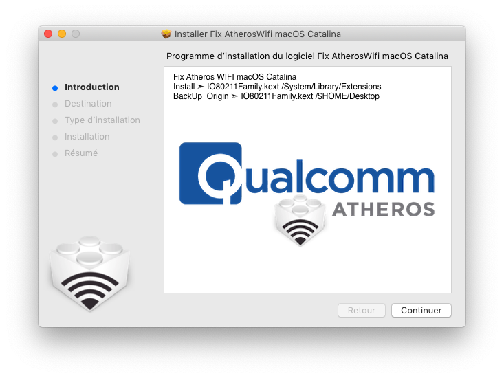 Fix AtherosWifi macOS Catalina Captu665