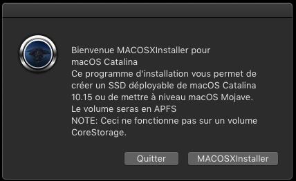 MACOSXInstaller pour Catalina 10.15 Captu689