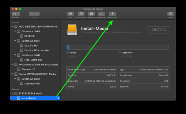 [RESOLU] SSD NVME et boot Mojave Captu703