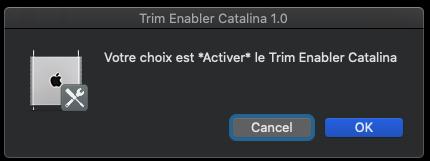 Trim Enabler pour macOS Catalina 10.15 Captu759
