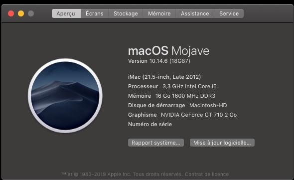 macOS Mojave 10.14.6 Mise a jour Supplémentaire (18G87) Captu786