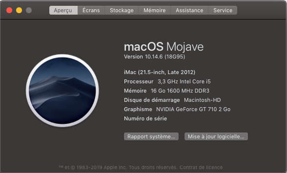 macOS Mojave 10.14.6 Mise a jour Supplémentaire (18G95) Captu804