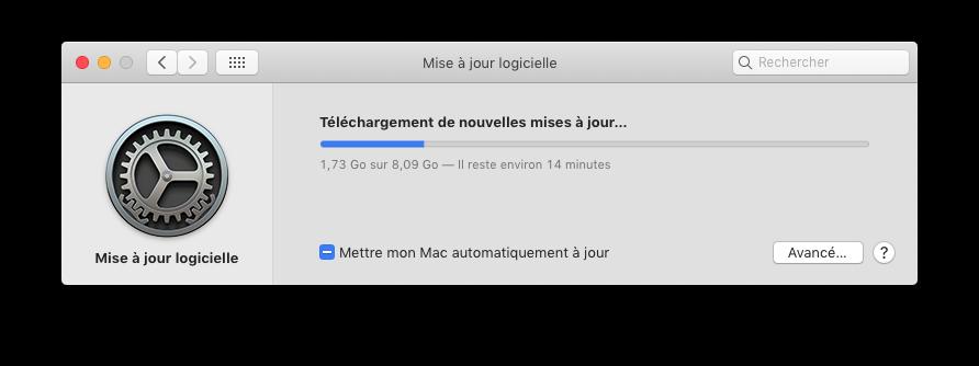 macOS Catalina.app  Disponible sur l'App Store Captu853