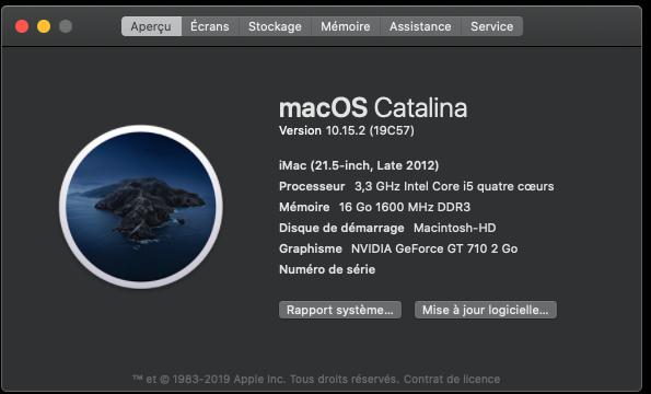 Mise a jour Catalina 10.15.2 (19C57) Captu891