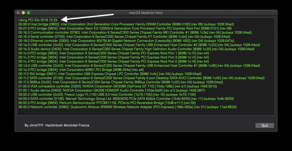 macOS Matériel Infos Captu897