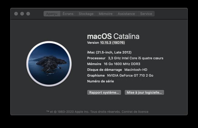 Mise a jour Catalina 10.15.3 (19D76) Captu909