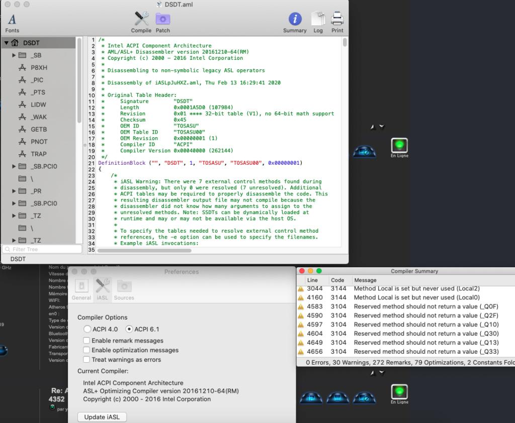 Applebacklight & wifi Broadcom 4352 Captu921