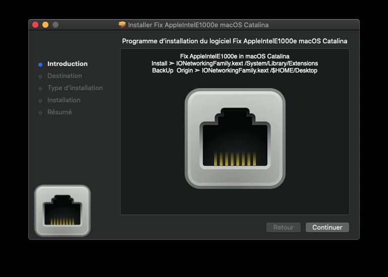 Fix AppleIntelE1000e macOS Catalina Captu924