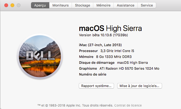 Beta macOS High Sierra Beta 10.13 1 (17B46a) a 10.13.2 Beta et +++ - Page 3 Captur17