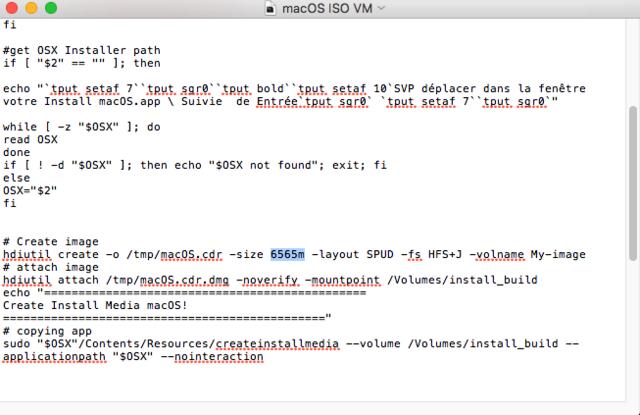 Script pour créer un iso  de 10.9  a 10.14  pour VMware Captur19