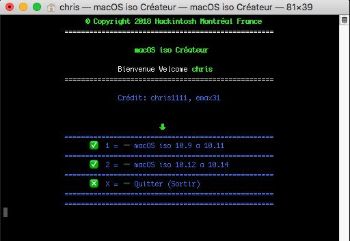Script pour créer un iso  de 10.9  a 10.14  pour VMware Captur28