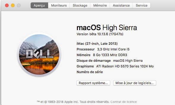 Beta macOS High Sierra Beta 10.13 1 (17B46a) a 10.13.2 Beta et +++ - Page 3 Captur48