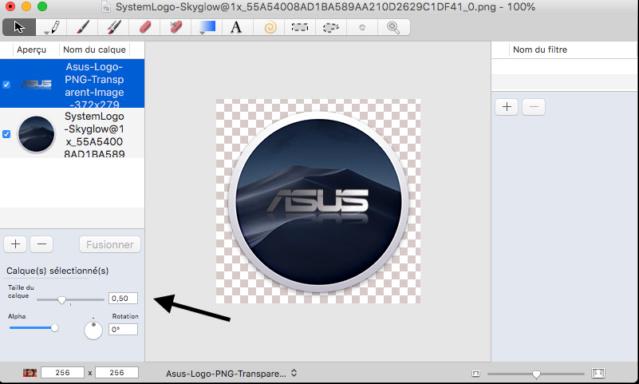 Changer le SystemLogo dans macOS Mojave Captur58