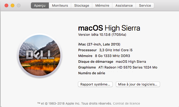 Beta macOS High Sierra Beta 10.13 1 (17B46a) a 10.13.2 Beta et +++ - Page 3 Captur65