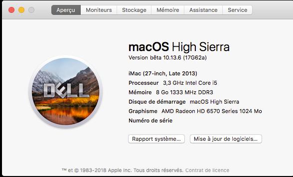 Beta macOS High Sierra Beta 10.13 1 (17B46a) a 10.13.2 Beta et +++ - Page 3 Captur73