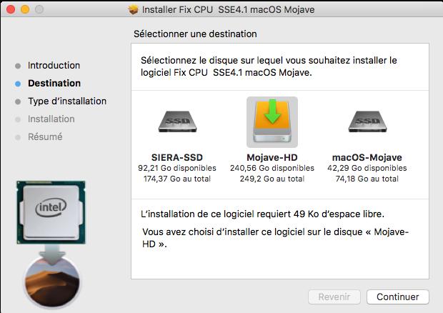Fix CPU  SSE4.1 macOS Mojave Captur88