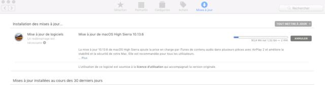 Mise a jour macOS High Sierra 10.13.6 (17G65) Captur91