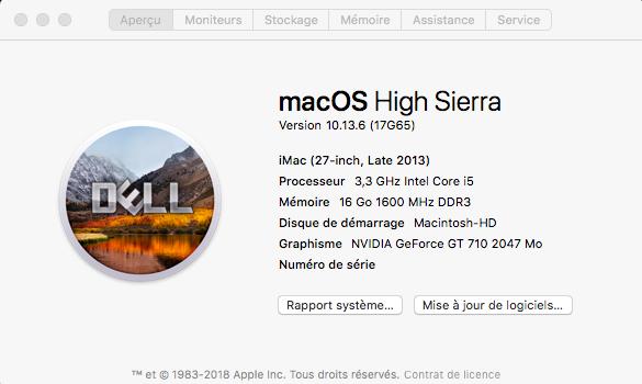 Mise a jour macOS High Sierra 10.13.6 (17G65) Captur92