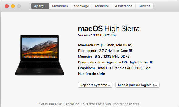Mise a jour macOS High Sierra 10.13.6 (17G65) Captur97